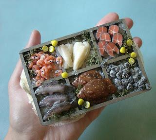Comida del mar miniatura