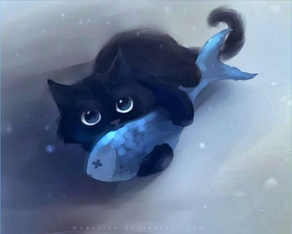 Adorable Cat Illustrations by Apofiss