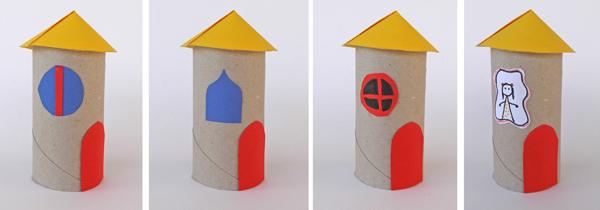 σπίτια από ρολ, σπίτια από ρολά χαρτί υγείας