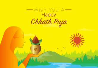 happy chhath puja  IMAGES, GIF, ANIMATED GIF, WALLPAPER, STICKER FOR WHATSAPP & FACEBOOK