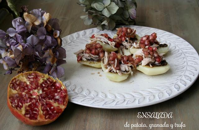 Ensalada de patata,granada y trufa