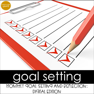 Goal Setting for Students: Monthly Goal Setting and Reflection Digital Resource for Google Classroom