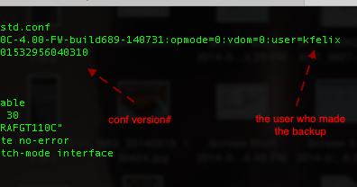 Ken Felix Security Blog: Fortigate configuration files