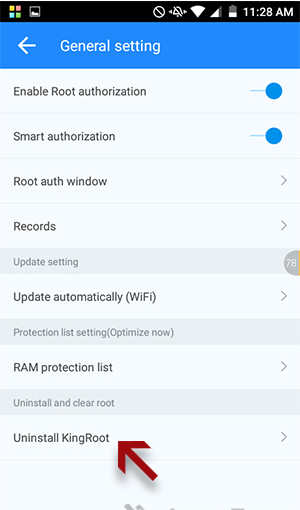 unroot android kingroot