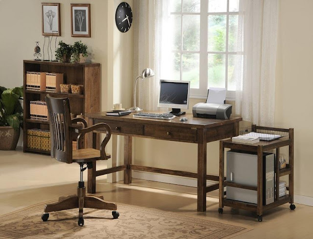 best buy solid wood home office desks UK only for sale with file cabinets