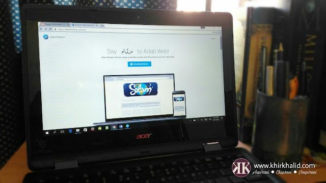 Pelayar web patuh syariah, salam browser,