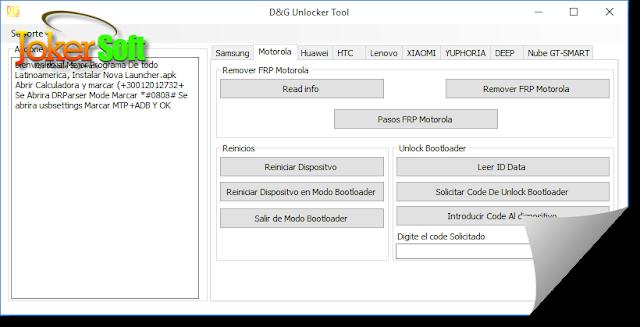 تحميل برنامج d&g unlocker tools لتخطى حماية frp لموديلات كثيرة