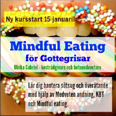 Lär dig hantera ditt godissug och överätande med hjälp av Medveten andning, Mindful Eating och KBT