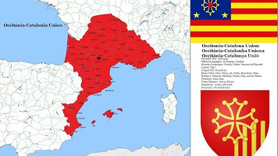 el occitano es clavadito al catalán, por qué será? Pero son dos lenguas distintas, en cambio, chapurriau, valenciano, mallorquín según los catalanistas son dialectos del catalán. Me píxo de riure. /