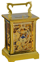 L'Epee Anglaise Squelette Gold-Plated Carriage Clock