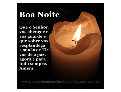 Boa Noite Gospel: Mensagens Para Facebook: Boa Noite