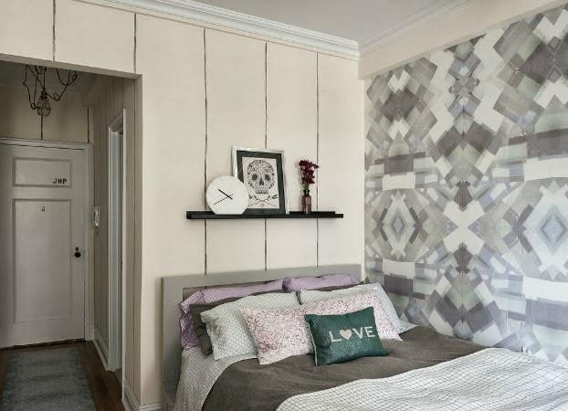 Kitnet ou Quitinete decorada: primeiro apartamento. Blog Achados de Decoração