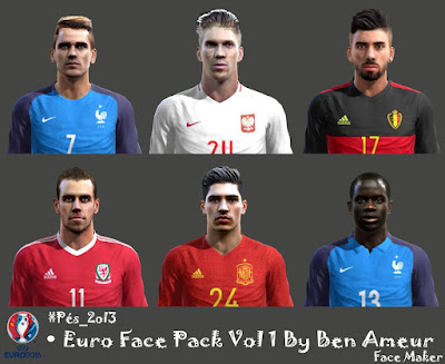 Pes 2013 Euro Face Pack Vol 1 By Ben Ameur