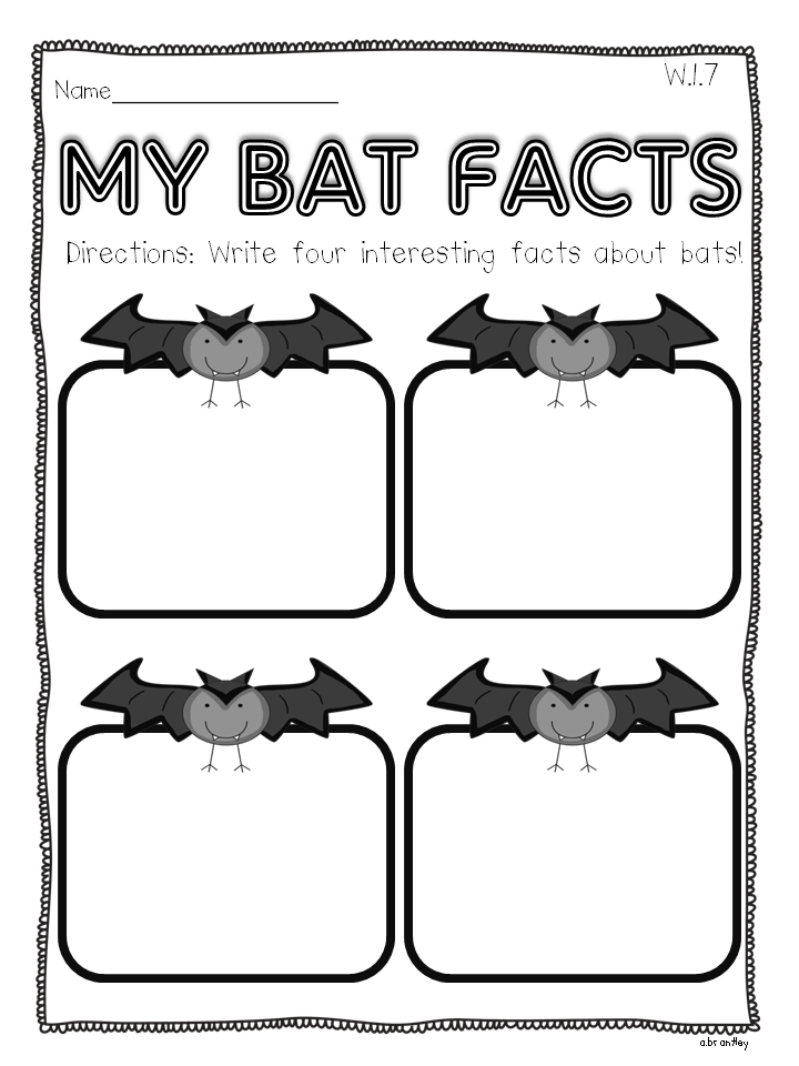 Crazy for First Grade: {{{{BATS}}}} Informational Writing