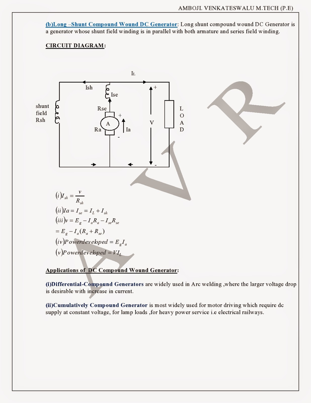 dc generators types of generators emf equation power flow diagram condition for max efficiency applications of dc generators [ 1236 x 1600 Pixel ]