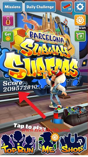 subway surfer par high score kaise Banate hai. how to high score in subway surfer game