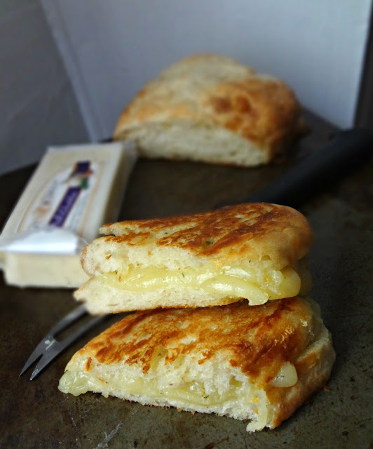 Garlic Herb Ciabatta Grilled Cheese