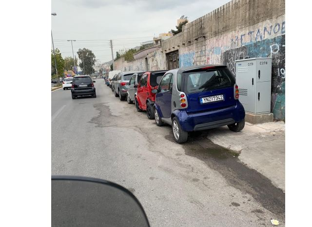 Καταγγελία για παράνομο παρκάρισμα στην Λεωφόρο Δημοκρατίας