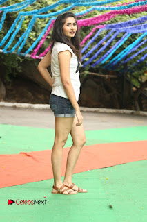 Actress Vyoma Nandi  Pictures in Shorts at Haritha Haram Event  0188