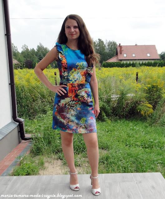 Sukienka w ryby