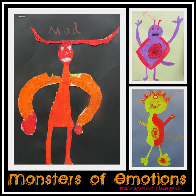 photo of: Monsters of Emotions by Third Graders (via RainbowsWithinReach)