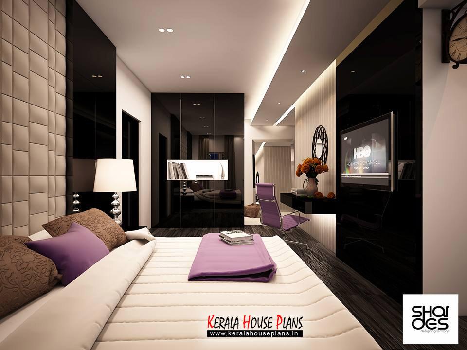 Black and White Bed Room Interior Design Idea