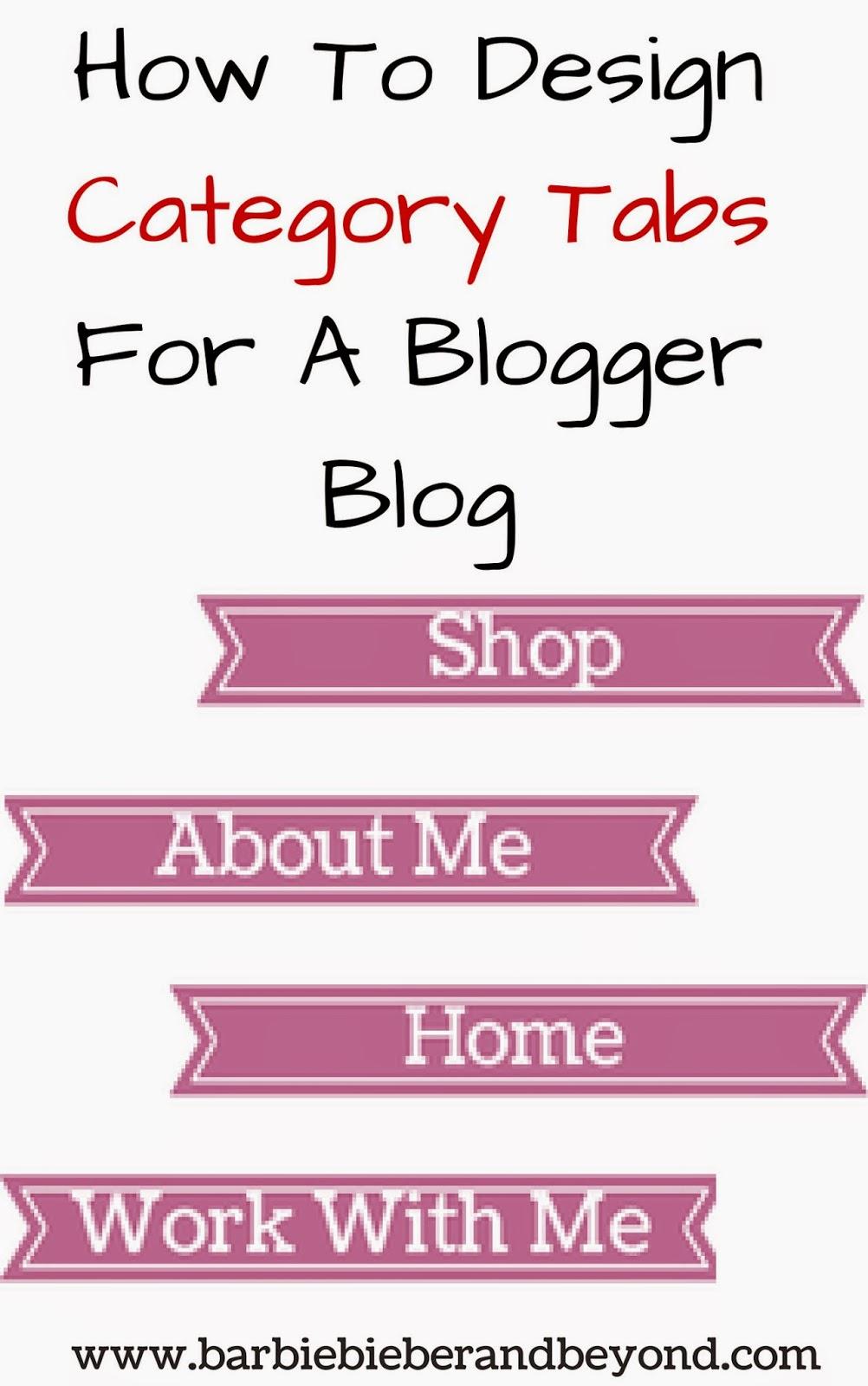 Design Blog Category Tabs