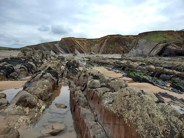 Rock formations at Northcott Mouth near Bude, Cornwall