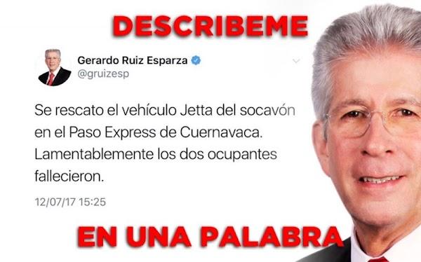 El tuit de Ruiz Esparza y lo que le respondieron en Twitter.