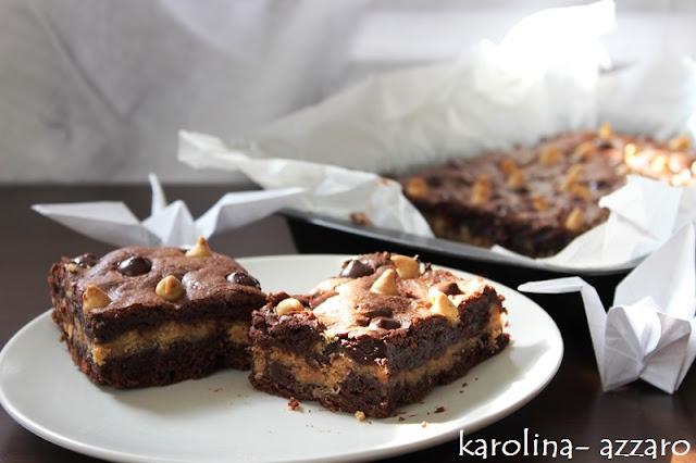 Peanut butter brownies (brownies s arašidovým maslom)