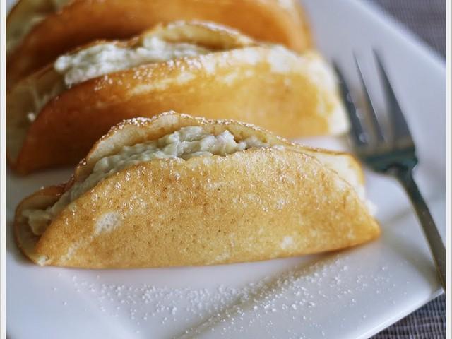 cara melipat pancake durian