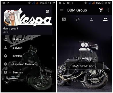 BBM Mod Vespa Versi Lawas