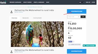 Waterwheel to rural India