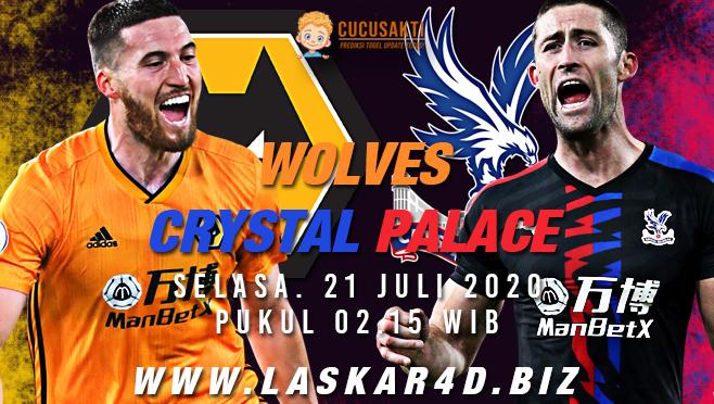 Prediksi Bola Wolves vs Crystal Palace Selasa 21 Juli 2020