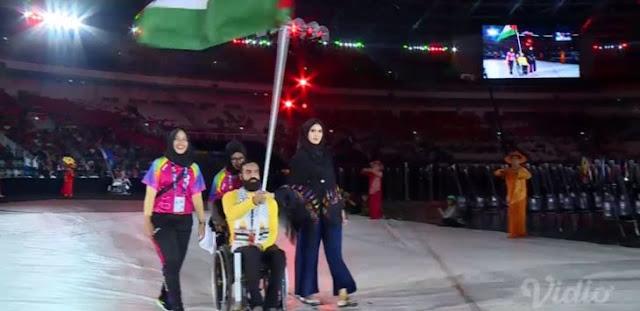Kontingen Palestina Cuma Seorang, Begini Reaksi Penonton Pembukaan Asian Para Games 2018