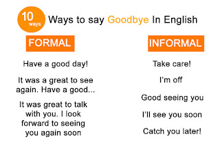 "ways to say ""Goodbye"" in English"