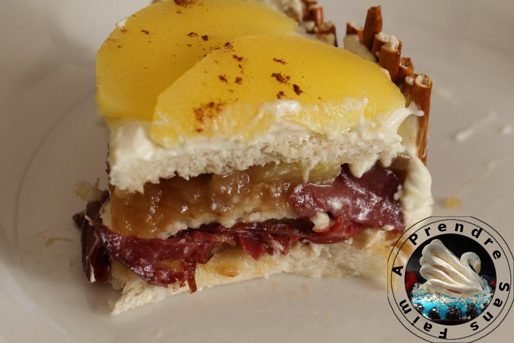 Sandwich cake pomme canard