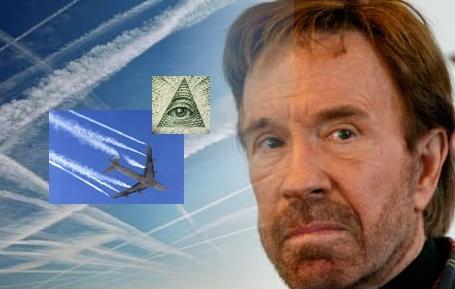 Chuck Norris denuncio los Chemtrails publicamente   Nuevo Orden Mundial Illuminati