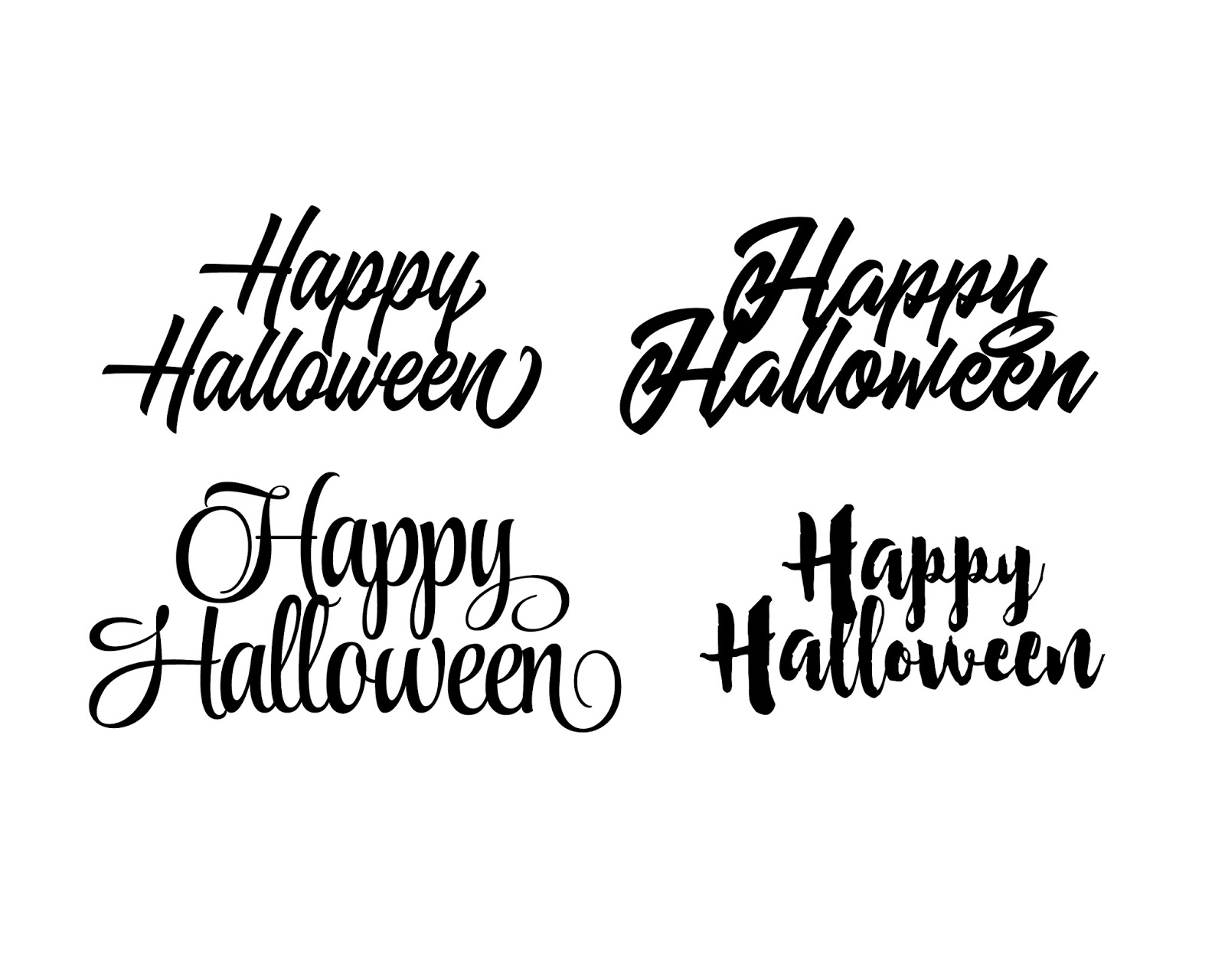 free happy halloween word art svg cut vector file