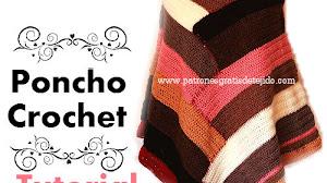Poncho Escalonado a Crochet / Tutorial