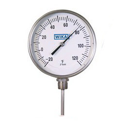 đồng hồ đo nhiệt độ wika chân đứng