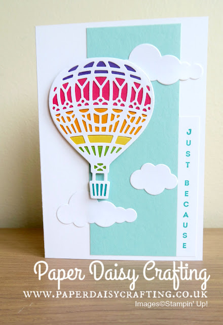 Hot Air Balloon card by Stampin Up