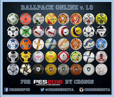 PES 2016 Ballpack Online v.1.0 by Cronos