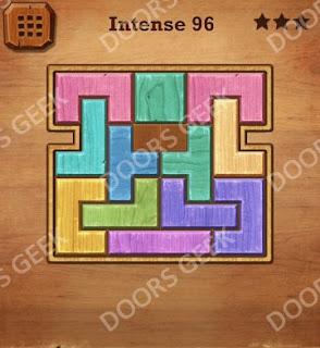 Cheats, Solutions, Walkthrough for Wood Block Puzzle Intense Level 96