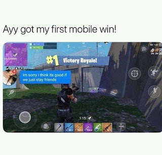 funny fortnite win