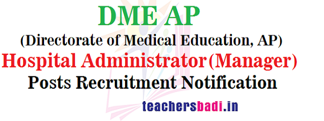 DME AP,Hospital Administrator,Manager posts