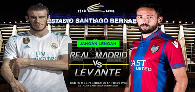 Prediksi Taruhan Bola 365 - Real Madrid vs Levante 9 September 2017