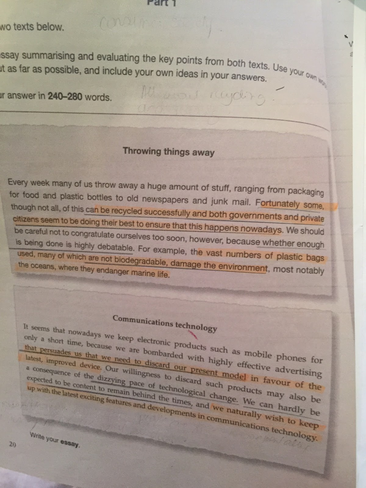 CPE sample writings: Learning to write an ESSAY for the CPE