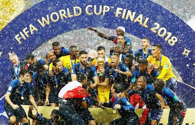 Kemenangan 4-2 Perancis Atas Kroasia di Final Piala Dunia 2018, Serta Sinar Terang Griezmann, Mbappe, dan Pogba