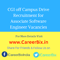 CGI off Campus Drive Recruitment for Associate Software Engineer Vacancies